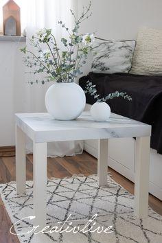 IKEA Hack. Beistelltisch mit Marmorfolie bekleben