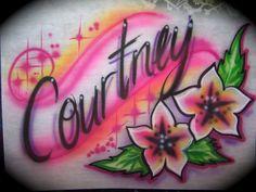Airbrush Designs, Airbrush Art, Airbrush Shirts, Name Drawings, Custom Airbrushing, Graffiti Alphabet, Textiles, Name Art, Paper Cards