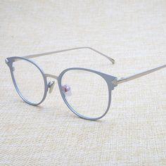 e4c9bee3349d3 B Do Vintage Óculos Redondos Óculos de Armação de Metal Óptico Para Óculos  Mulheres