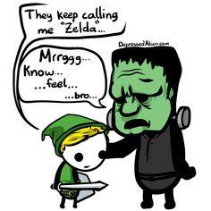 It's Link and Frankenstein's monster