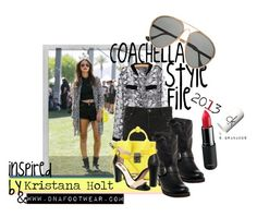 Coachella Style File: Kristana Holt by LS Granados for dnafootwear-com on Polyvore featuring Ksubi, Rosegold, 3.1 Phillip Lim, Finest Seven, Polaroid, aviator sunglasses, ripped shorts, cool, calvin klein and python
