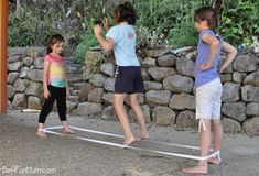 elastics game - remember the hours on end we used to play this for / FICTILIS / FICTILIS Bond and Pearce Pearce Greville ? Outdoor Games For Kids, Backyard For Kids, Backyard Games, Outdoor Fun, Indoor Games, Indoor Activities, Summer Activities, Backyard Ideas, Playground Games