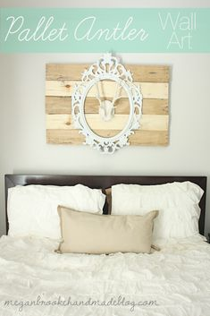 Pallet Antler Wall Art using the distressed wood tutorial!