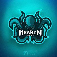 Logo eSports - The Kraken Gaming - Fluzp Design Graphic Design Tips, Logo Design, Kraken Logo, Sports Team Logos, Passion Project, Game Logo, Team Names, Esports, Logo Branding