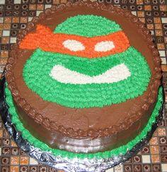 Teenage Mutant Ninja Turtle - Teenage Mutant Ninja Turtle Michaelangeo Birthday cake.