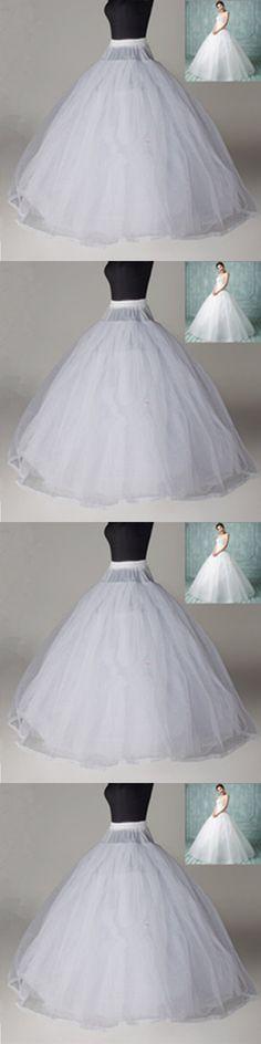 White 8 Layer Hoopless Crinoline Petticoat no hoop ball gowns wedding Underskirt