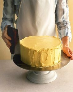 """See the """"Step 5: Smooth Frosting"""" in our How to Assemble a Layer Cake gallery"""