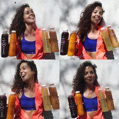 Dora Matos: Vir de correr e receber os meus suminhos (e não só!!) obrigada @drink6sumos Em breve vídeo no blog!! #drink6sumos #drink6 #detox — con Drink6 y Drink6Portugal.