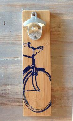 Bike Wall-mount Bottle Opener by ReEcoShop on Etsy https://www.etsy.com/listing/167503063/bike-wall-mount-bottle-opener