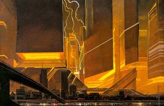 """Tribute to the legendary Art of Syd Mead the """"visual futurist"""" and concept artist known for his designs for science-fiction films such as Blade Runner, Robert Mcginnis, John Heartfield, Albert Robida, Blade Runner Art, Sf Wallpaper, Syd Mead, Jean Leon, Victor Vasarely, John Waters"""