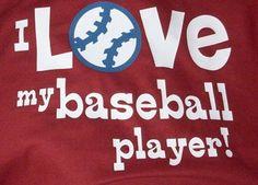 I Love My Player Shirt Football, Baseball, Soccer, T-Ball, Baskeball, Cheerleader, Tennis and More - Mom Shirts on Etsy, $20.00