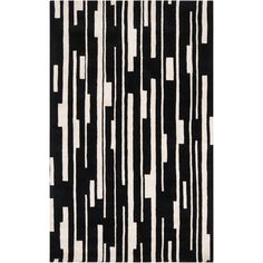 Hand-tufted Black Damede Geometric Wool Rug (5' x 8'), Size 5' x 8' (New Zealand Wool, Abstract)
