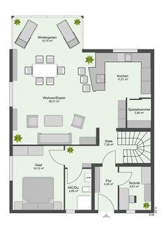 Grundriss Einfamilienhaus Mit Satteldach 5 Zimmer 130 Qm