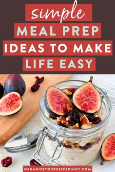 Simple Meal Prep Ideas to Make Life Easy | Meal Prep for Beginners - Want to make your weekly meal prep more simple and enjoyable? Meal prep is the best strategy for eating healthier and losing weight. Here are my top tip to simplify it! Organize Yourself Skinny | Meal Prep Hacks | Meal Planning | Healthy Lifestyle | Healthy Eating #mealprep #mealplanning #healthyliving #loseweight