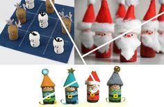 Tappi di sughero trasformati in decorazioni natalizie.