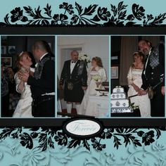 A Little Scrapbook Therapy: Wedding scrapbook pages in MDS