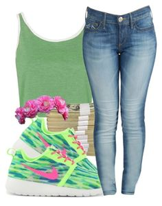 """*"" by princess-kia54321 ❤ liked on Polyvore featuring Topshop, NIKE and True Religion"