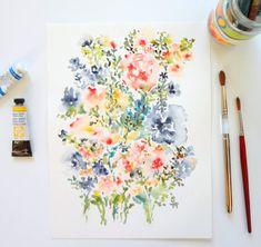 Vom Garten Nr. 13 feine Kunstdruck Aquarell von pineapplebaystudio