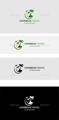 Caribbean Travel — Vector EPS #e booking #heart logo • Available here → https://graphicriver.net/item/caribbean-travel/16654818?ref=pxcr