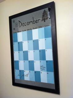 Cool Paint Sample Calendar  Diy    Paint Sample