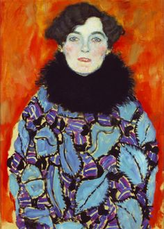 Gustav Klimt: Portrait of Johanna Staude (unfinished) 1917/18.