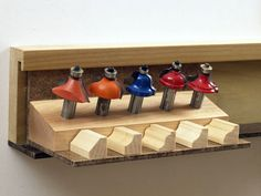 Router bits storage idea
