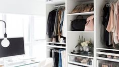Actually, any size is functional for the smart closet system. The most important thing is that its size is suited to the user needs. The smart closet is a… Smart Closet, Make A Closet, Luxury Wardrobe, Luxury Closet, Walk In Closet Design, Closet Designs, Ikea Mandal Headboard, Small Closet Space, Small Space