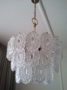 Murano Mazzega Crystal Glass Chandelier