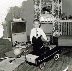 Vintage Christmas 1950's,,,one happy kid