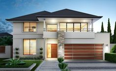 Small house designs perth by grandwood homes custom home builders perth 2 s Small House Design, Modern House Design, Architecture Classique, Storey Homes, Facade House, House Facades, House Exteriors, Modern House Plans, Custom Home Builders