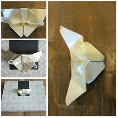 Used paper for origami craft & gift box