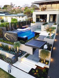 Modern Resort Style Home Landscaping - Melbourne, Australia .- Modern Resort Style Home Landscaping – Melbourne, Australia – Modern Resort Style Home Landscaping – Melbourne, Australia – - Architecture Design, Landscape Architecture, Architecture Definition, Architecture Colleges, House Landscape, Chinese Architecture, Architecture Student, Sustainable Architecture, Home Landscaping