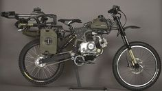 Motoped motorized survival bike will get you there and back