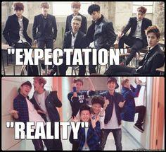BTS.. expectation v reality ♥