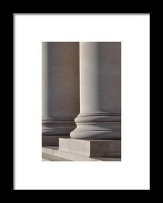 Stone Framed Print featuring the photograph Pillars Of Law by Brandon Bourdages