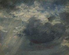 BBC - Your Paintings - Sky Study with a Shaft of Sunlight