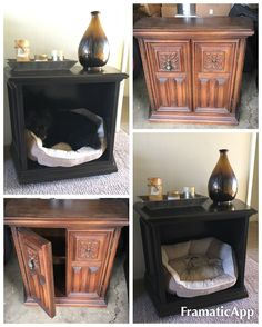 DIY Furniture Dog Crate Bed End Table Nightstand