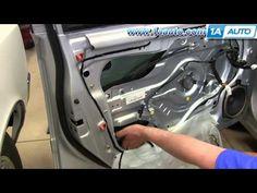 ▶ How To Install Replace Front Power Window Regulator 2001-06 Hyundai Elantra - YouTube