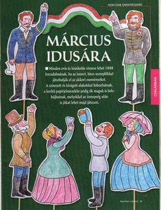 Március 15. Spring Crafts, Puppets, Art Lessons, Techno, Crafts For Kids, The Past, Activities, Disney Characters, March