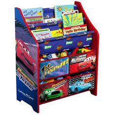 Delta Children Products - Disney Cars Book and Toy Organizer
