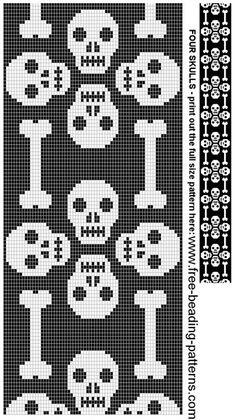 схема черепа для вязания