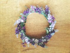 floral fairy crown lavender flowers