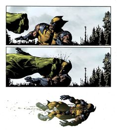 Slow motion Hulk's punch by Mike Deodato Jr.