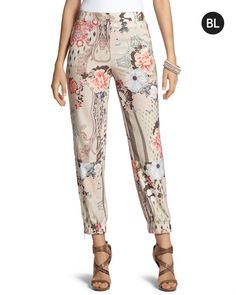 Chico's - Floral Jogger Pants