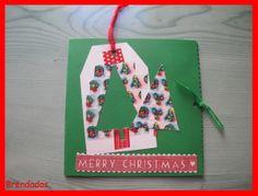 Tarjeta árbol de navidad de washi tape