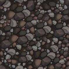 Rocks - Handpainted Textures