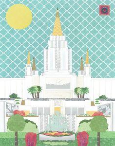 Oakland California LDS Temple 11 x 14 .JPEG by AcorntoZebraCollage, $6.00