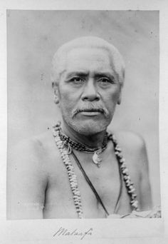 Photograph of Mata'afa Iosefa, one of the Samoan contenders for royal status in the Samoan civil wars prior to the Germans taking possession of Samoa in 1899, taken by an unknown photographer.