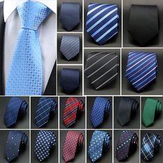 Hommes Cravate Classique Soie Necktie Formel Business Slim Mariage Tie Cravate