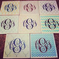 DIY Coasters DIY Monogram Coasters DIY Coasters